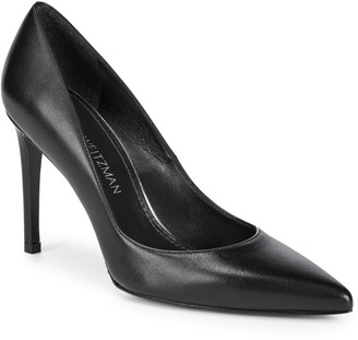 Stuart Weitzman Royal Leather Stiletto Pumps