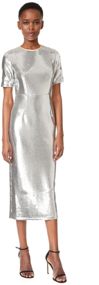 Diane von Furstenberg Short Sleeve Tailored Sequin Dress $1,300 thestylecure.com