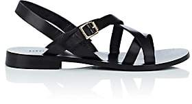 Barneys New York Women's Leather Multi-Strap Sandals - Black