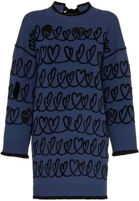 Fendi Knitted Heart Dress