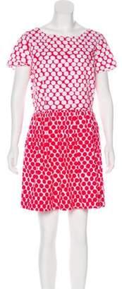 Oscar de la Renta Polka Dot Dress white Polka Dot Dress