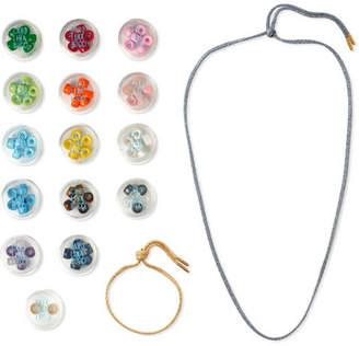 Carolina Bucci Lurex Multi-stone Bracelet And Necklace Set - Gold