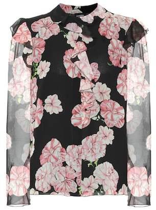 Giambattista Valli Floral silk-crêpe blouse