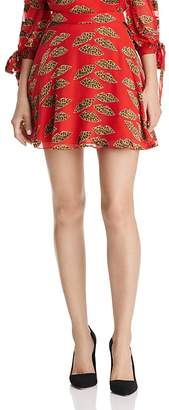 Alice + Olivia Blaise Lips Burnout Mini Skirt