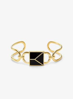 Michael Kors 14K Gold-Plated Sterling Silver Mercer Lock Cuff