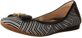 Cole Haan Women's Tali Bow Ballet Flats, Ink/Optic White