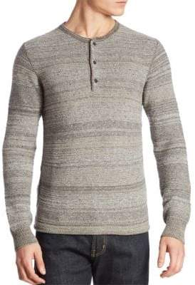 G Star Striped Wool-Blend Henley