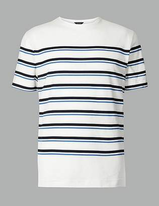 Marks and Spencer Supima® Cotton Striped T-Shirt