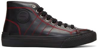 Stella McCartney Black Contrast Stitch High-Top Sneakers