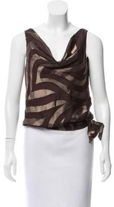 Kenneth Cole Silk-Blend Brocade Top