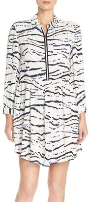 Women's French Connection Print Crepe Shirtdress $158 thestylecure.com