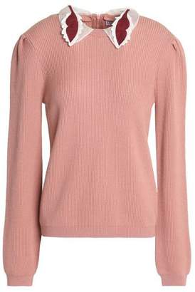 RED Valentino Convertible Ribbed Wool Sweater