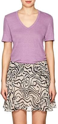 Etoile Isabel Marant Women's Kranger Linen V-Neck T-Shirt