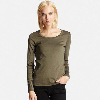 Women's Supima(R) Cotton Crewneck Long Sleeve T-Shirt $14.90 thestylecure.com