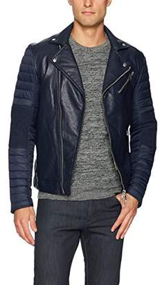 Armani Exchange A|X Men's Eco Leather Moto Jacket