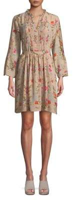 Marella Floral Long-Sleeve Dress