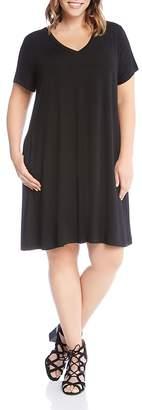 Karen Kane Plus Quinn V-Neck Pocket Dress