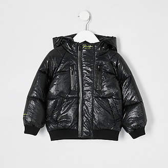 River Island Mini boys black puffer jacket