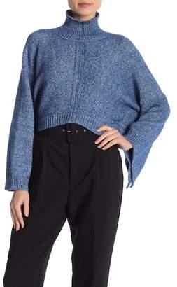Lafayette 148 New York Cropped Kimono Knit Sweater
