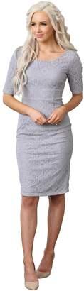 "Mikarose ""June"" Modest Pencil Dress in - L"
