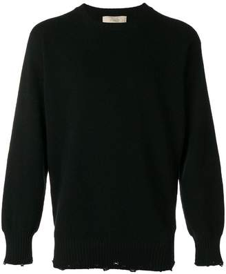 Maison Flaneur ripped crew neck sweater