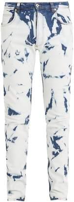 Loewe X William Morris slim-leg bleached-denim jeans