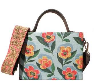 Simitri - Blue Rose Briefcase Bag