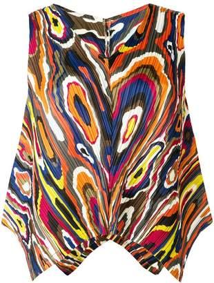 1fd3b43ff82a0 Pleats Please Issey Miyake printed sleeveless top