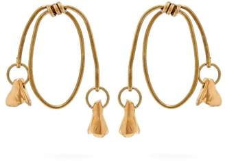 Marni Twisted Hoop Earrings - Womens - Gold