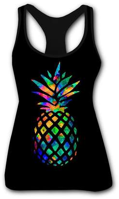 9f198b7426b45 D Women s Styles Pineapple 3D Printed Tank Sleeveless T Shirt M