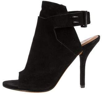Givenchy Suede Peep-Toe Booties