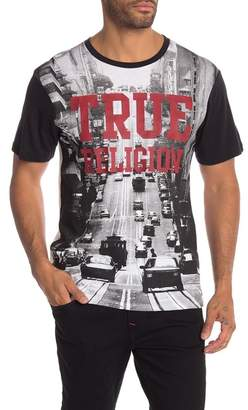 True Religion Short Sleeve Crew Neck Graphic Tee