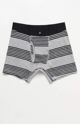 Richer Poorer Thurston Stripe Grey & Black Cotton Boxers