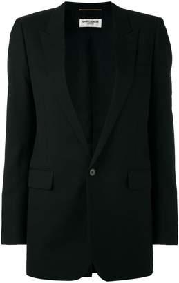 Saint Laurent classic single breasted long tube jacket