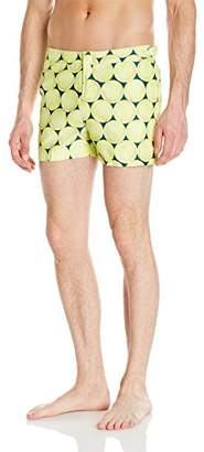 Original Penguin Men's Tennis Balls Fixed Waist Swim Trunk