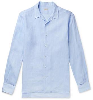 Caruso Camp-Collar Linen Shirt