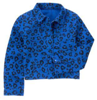 Crazy 8 Leopard Print Denim Jacket