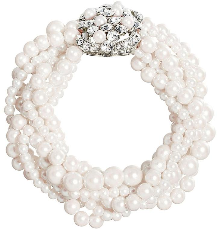 Brooks Brothers Pearl Seven-Row Stretch Bracelet