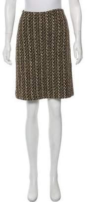 St. John Metallic-Accented Pencil Skirt Gold Metallic-Accented Pencil Skirt