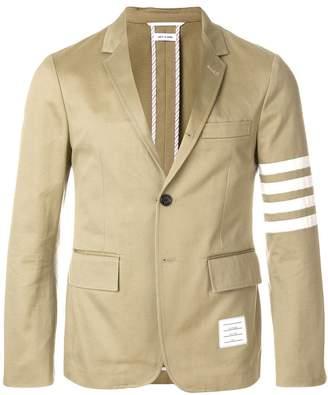Thom Browne Classic Unconstructed 4-Bar Stripe Sport Coat