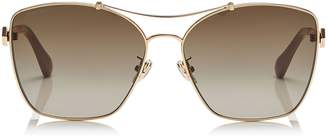 Jimmy Choo KIMI/F/S 62 Brown Shaded Oversized Sunglasses in Red, Gold, Nude and White
