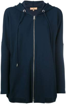 Fay zipped drawstring hoodie