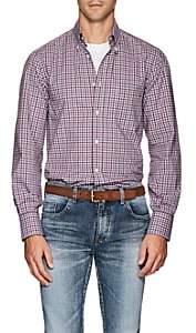 Brunello Cucinelli Men's Plaid Cotton Poplin Button-Down Shirt - Purple