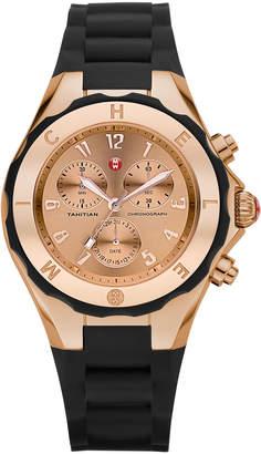 Michele Tahitian 40mm Jellybean Chronograph Watch, Rose Gold
