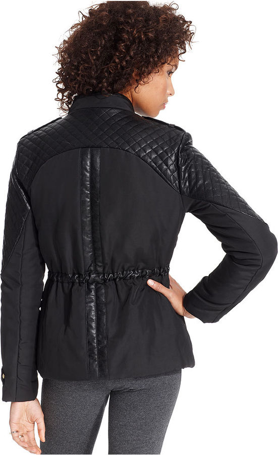 Walter W118 by Baker Coat, Long-Sleeve Quilted Faux-Leather