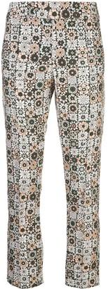 Smythe graphic print straight leg trousers