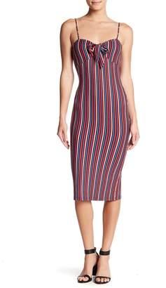 Velvet Torch Striped Spaghetti Strap Dress