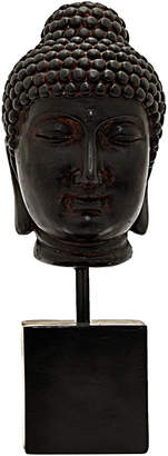 Three Hands Corp Black Buddha Head Home Accent