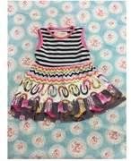 Baby Star Carnival Print Multi-Color Girls Dress 3T/M
