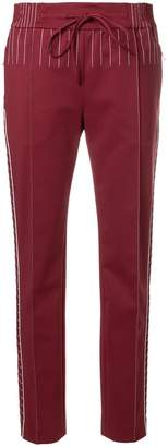 Valentino contrasting stitched trousers
